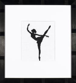 Ballet Silhouette 2 Cross Stitch Kit by Lanarte