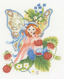 Wild Strawberries Cross Stitch Kit by Lanarte