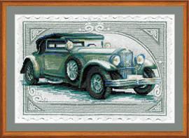 Vintage Car Cross Stitch Kit by Riolis