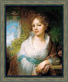 Portrait of M.I Lopukhina Cross Stitch Kit by Riolis