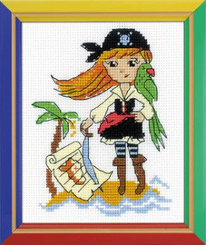 Treasure Island Cross Stitch Kit by Riolis
