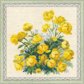 Globe Flowers Cross Stitch Kit by Riolis