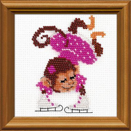 Figure Skater Beaded Embroidery Kit by Riolis 14 count