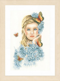 Yellow Butterflies Cross Stitch Kit by Lanarte