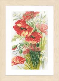 Poppies 2 Cross Stitch Kit by Lanarte