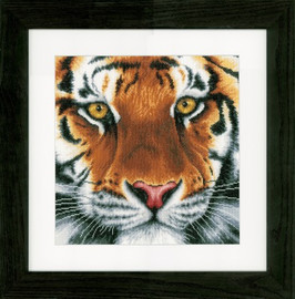 Tiger Cross Stitch Kit by Lanarte