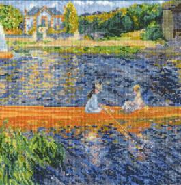 Renoir, The Skiff Cross Stitch Kit By DMC