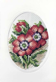 Anemones Cross Stitch Kit By Orchidea