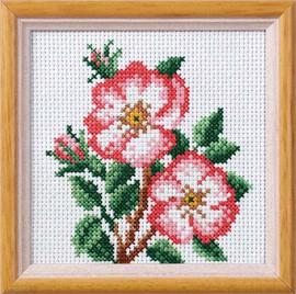 Dog Rose Garden Posies Cross Stitch Kit by Orchidea