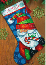 Sweet Santa Stocking Cross Stitch Kit by Dimensions