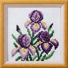 Iris Garden Posies Cross Stitch Kit by Orchidea