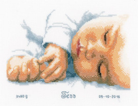 Newborn Cross stitch Kit by Vervaco