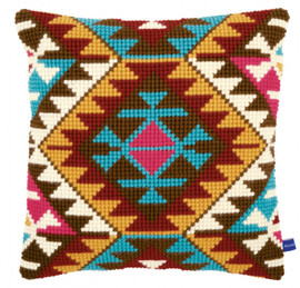 Ethnic print Chunky Cross Stitch Cushion Kit