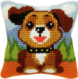 Small Dog Chunky Cross Stitch Cushion Kit by Orchidea
