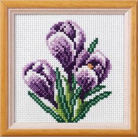 Crocus Garden Posies Cross Stitch Kit by Orchidea
