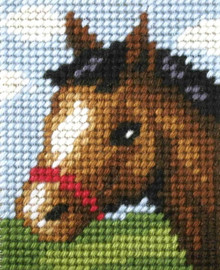 My First Embroidery Needlepoint Kit Friendly Foal By Orchidea