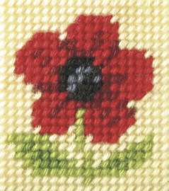 My First Embroidery mini Needlepoint Kit Poppy by Orchidea