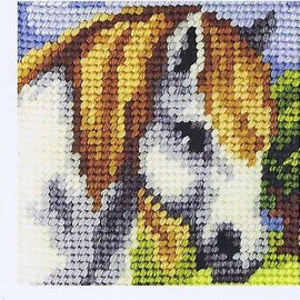 My First Embroidery Needlepoint Kit White Horse By Orchidea