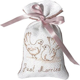 Doves Bag Cross Stitch Kit by Luca-S