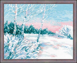 Winter Morning Cross Stitch Kit by Riolis