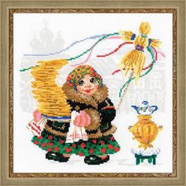 Pancake Seller Cross Stitch Kit by Riolis