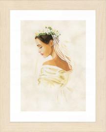 Counted Cross Stitch Kit: Bride (Linen) by Lanarte
