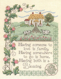 House Blessing - Cross Stitch Pattern By Diane Arthurs
