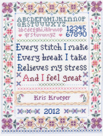 Every Stitch Sampler - Cross Stitch Chart By Sandra Cozzolino