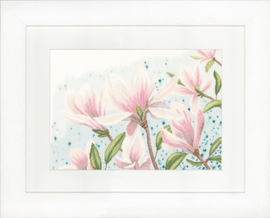 Counted Cross Stitch Kit: Magnolias (Linen)