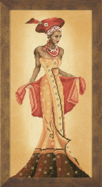 Counted Cross Stitch Kit: African Fashion I By Lanate