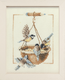 Counted Cross Stitch Kit: Feeding Dish with Birds By Lanarte
