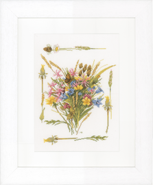Counted Cross Stitch Kit: Field Bouquet (Aida) By Lanarte
