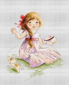 The Embroideress Cross Stitch Kit by Luca-s