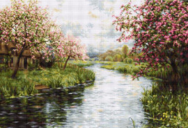 Spring Landscape Petit Point Kit by Luca-S