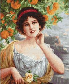 Beauty Under the Orange Tree Petit Point Kit by Luca-S