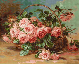 Basket of Roses Petit Point Kit by Luca-S