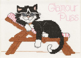 Glamour Puss Cross Stitch Kit by Janlynn