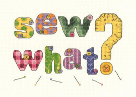 Sew What? Cross Stitch Kit by Janlynn
