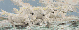 Seaside Horses Cross Stitch Kit by Janlynn