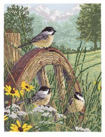 Meadow's Edge Cross Stitch Kit by Janlynn