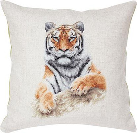 Tiger Pillow Cross Stitch Kit by Luca-s