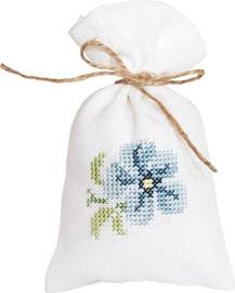 Blue Flower Bag Cross Stitch Kit by Luca-S
