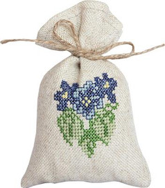 Pansy Bag Cross Stitch Kit by Luca-S