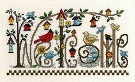 Every Bird Welcome - cross stitch pattern by Diane Arthurs