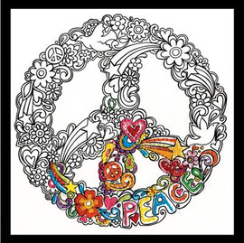 Zenbroidery - Peace Cotton Fabric