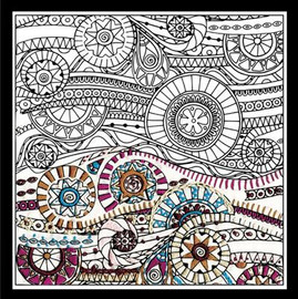 Zenbroidery - Waves Cotton Fabric