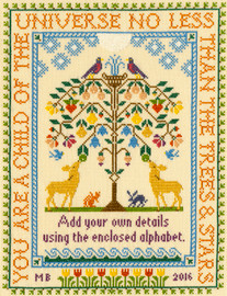 Tree of Life Cross Stitch Kit By Bothy Threads