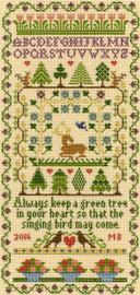 Green Tree Cross Stitch Kit By Bothy Threads