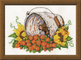 Bucket Mouse Cross Stitch Kit by Design works