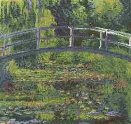 The Water-Lily Pond Cross Stitch Kit By DMC